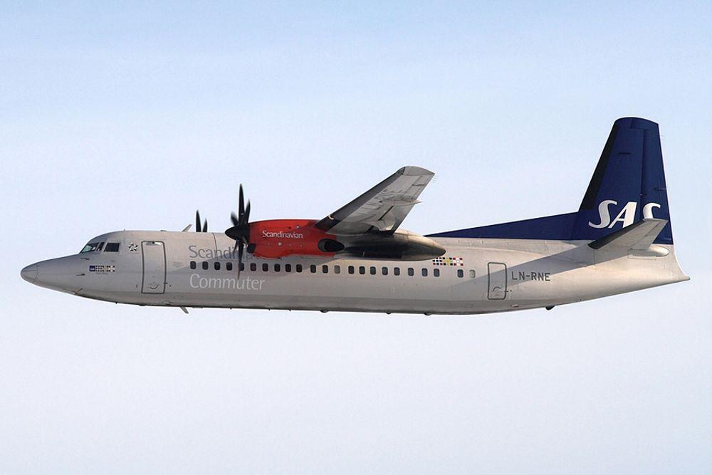 SISTE TUR: Flytypen Fokker 50 takker søndag for seg i SAS etter 20 år.