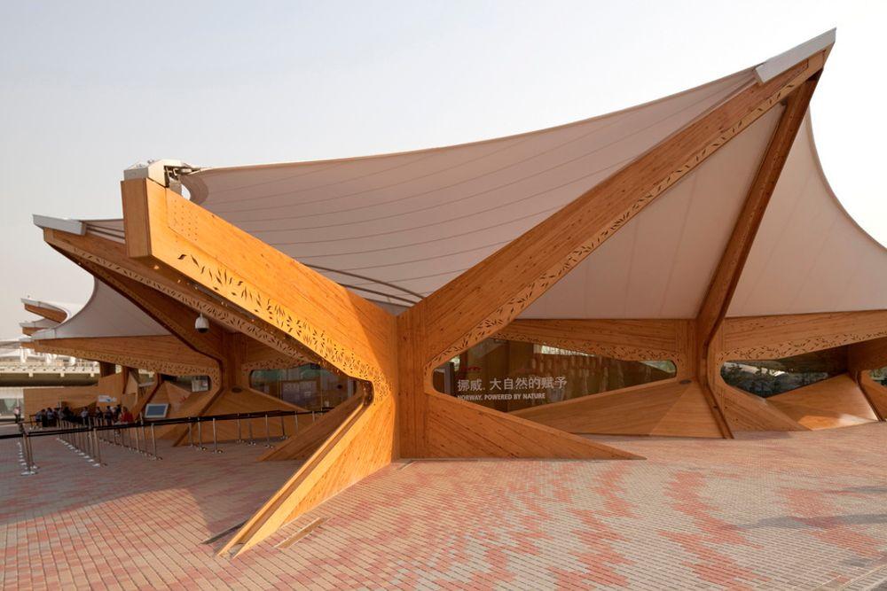 Den norske paviljongen under Expo 2010 i Shanghai.