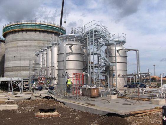 BIOGASS: Klimakur2020 trekker fram biogass basert på husdyrgjødsel som et av flere tiltak som kan redusere totalt 1,2 millioner tonn CO2 i 2020. Her er biogassanlegget til Northumbrian Water, som ligger i Teesside i North Yorkshire i England.