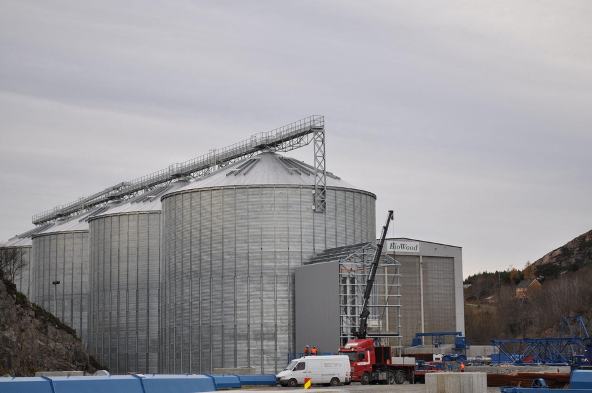 PELLETSFABRIKKER: Europas største pelletsfabrikk åpner til sommeren. I mars starter prøveproduksjonen, i stor grad med utenlandsk trevirke som innsatsmiddel.