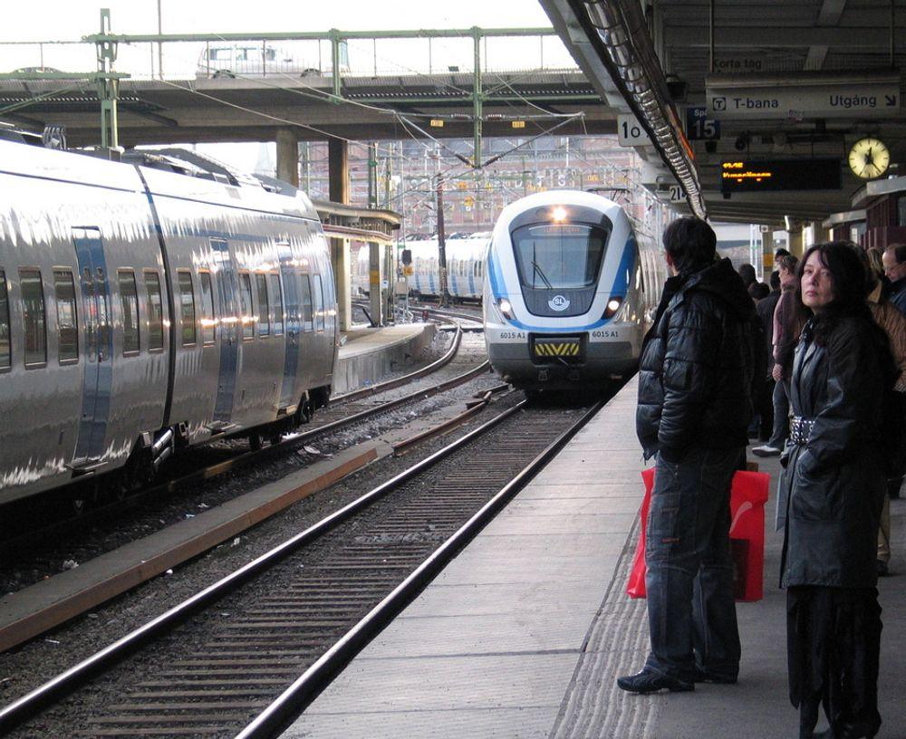 VIL SATSE: De rødgrønne i Sverige vil satse på jernbane, og investere i høyhstighetstog på to strekninger.
