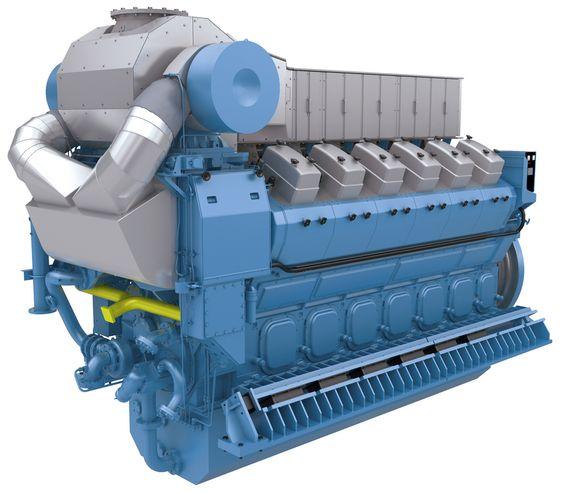 Gassmotor. For lekfolk er det ikke mulig å se forskjell på en gasmotor og en dieselmotor.