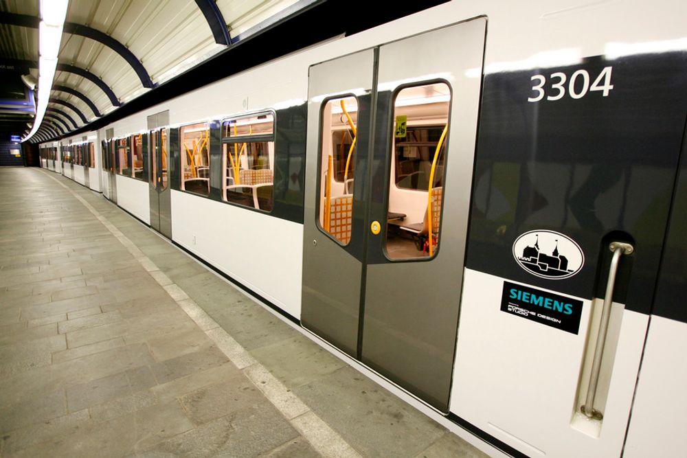 T-BANE KONTRAKT: Oslo Vognselskap skal kjøpe 96 nye vogner til T-banen i Oslo av Siemens.