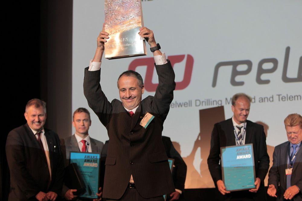 GLADE VINNERE: Reelwell stakk av med den gjeve ONS Innovation Award.