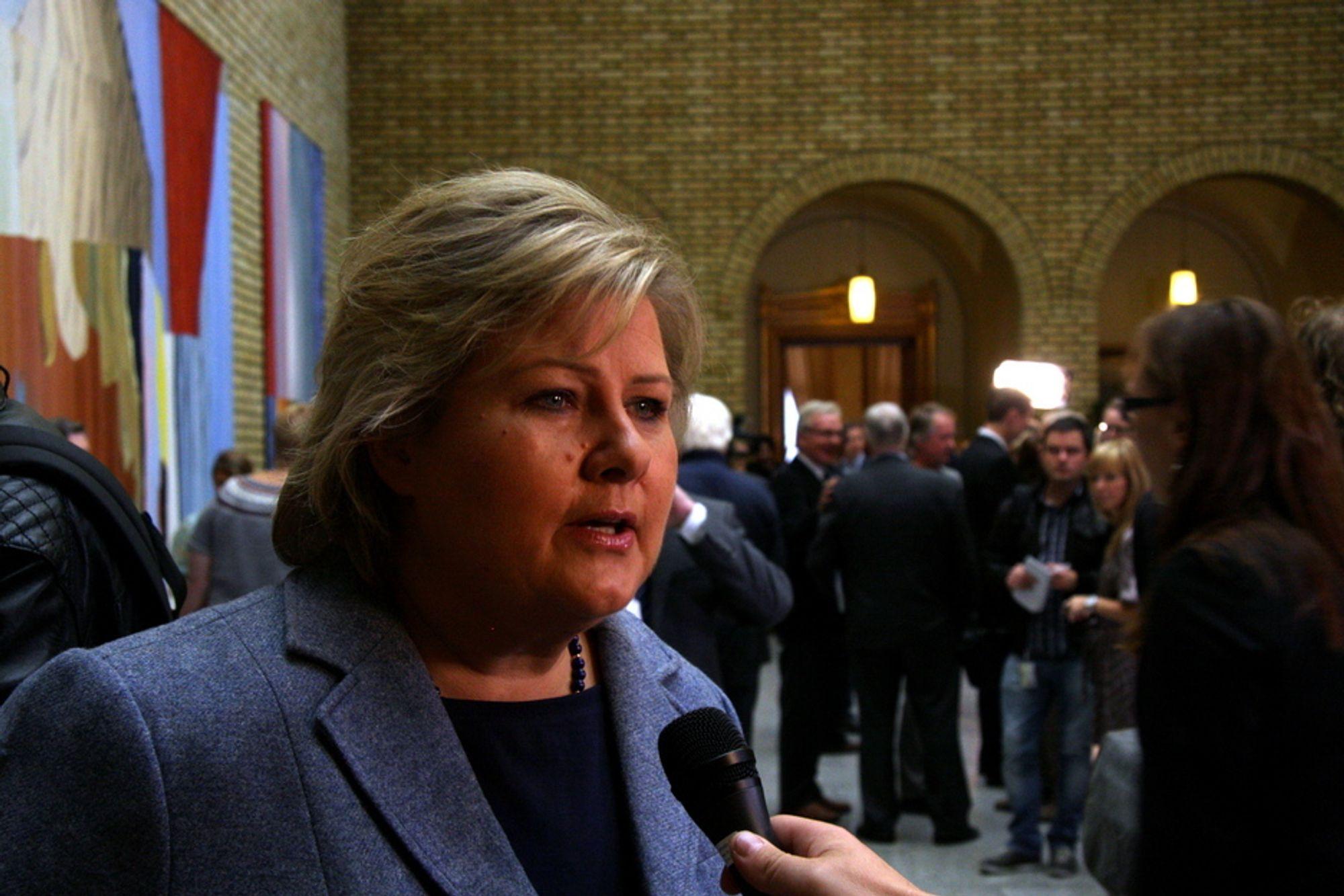 MANGLER INDUSTRIPOLITIKK: Høyre etterlyser en næringspolitikk fra regjeringen. I dag la de fram sitt alternative statsbudsjett.