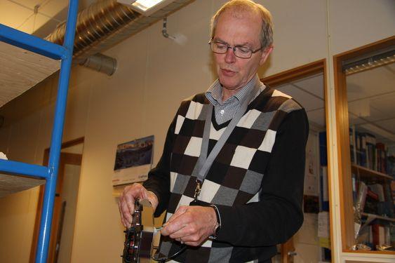 Teknisk sjef Ole Onsrud i Titech i Asker. Selskapet er eid av Tomra.