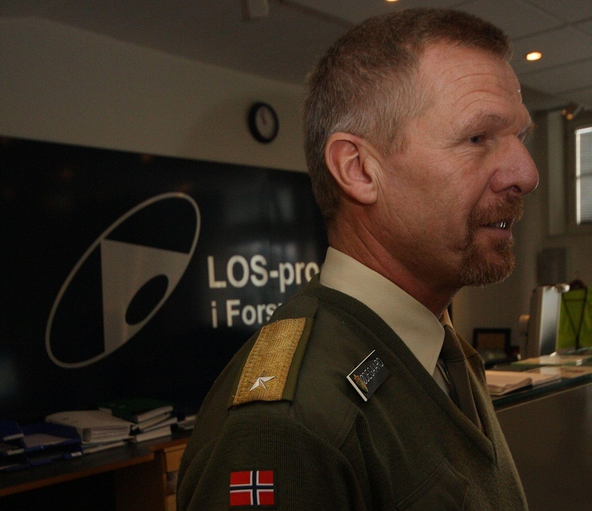 KAMP: Tre leverandører skal kjempe om storkontrakten i LOS-programmet, ledet av brigader Jan Chr. Ødegaard.