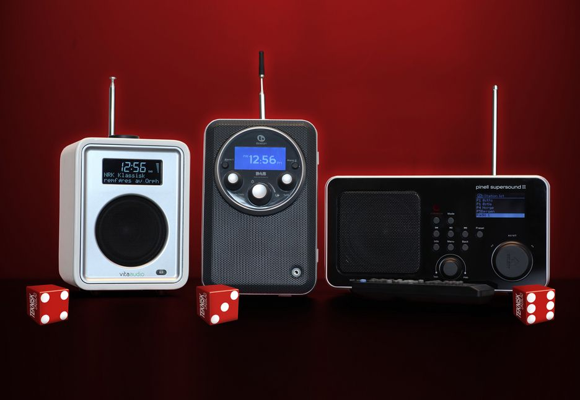 TERNINGKAST: Fra venstre: Vita Audio Model R1, Boston Horizon Solo XT, Pinell Supersound II