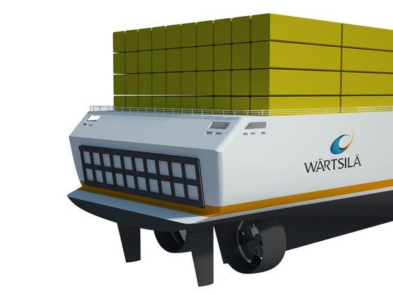 Shipping Scenarios 2030: Wärtsilä har laget tre framtidsscenarier:  Rough Seas, Yellow River og Open Oceans. Hvert scenario ramser opp en rekke forutsetninger og problemer som må løses. Felles: Skipstransport er viktig, energiressurser  knappe, klima er i endring.  Ferskvann er knapphet. Tre skipstyper: Tankskip for ferskvann, MegaBox-carrier (containerskip for Megaboxer ¿ 1 MB=16 TEU) og Algehøsteskip for biodrivstoff. Skipene må kunne drives av ulike typer drivstoff.