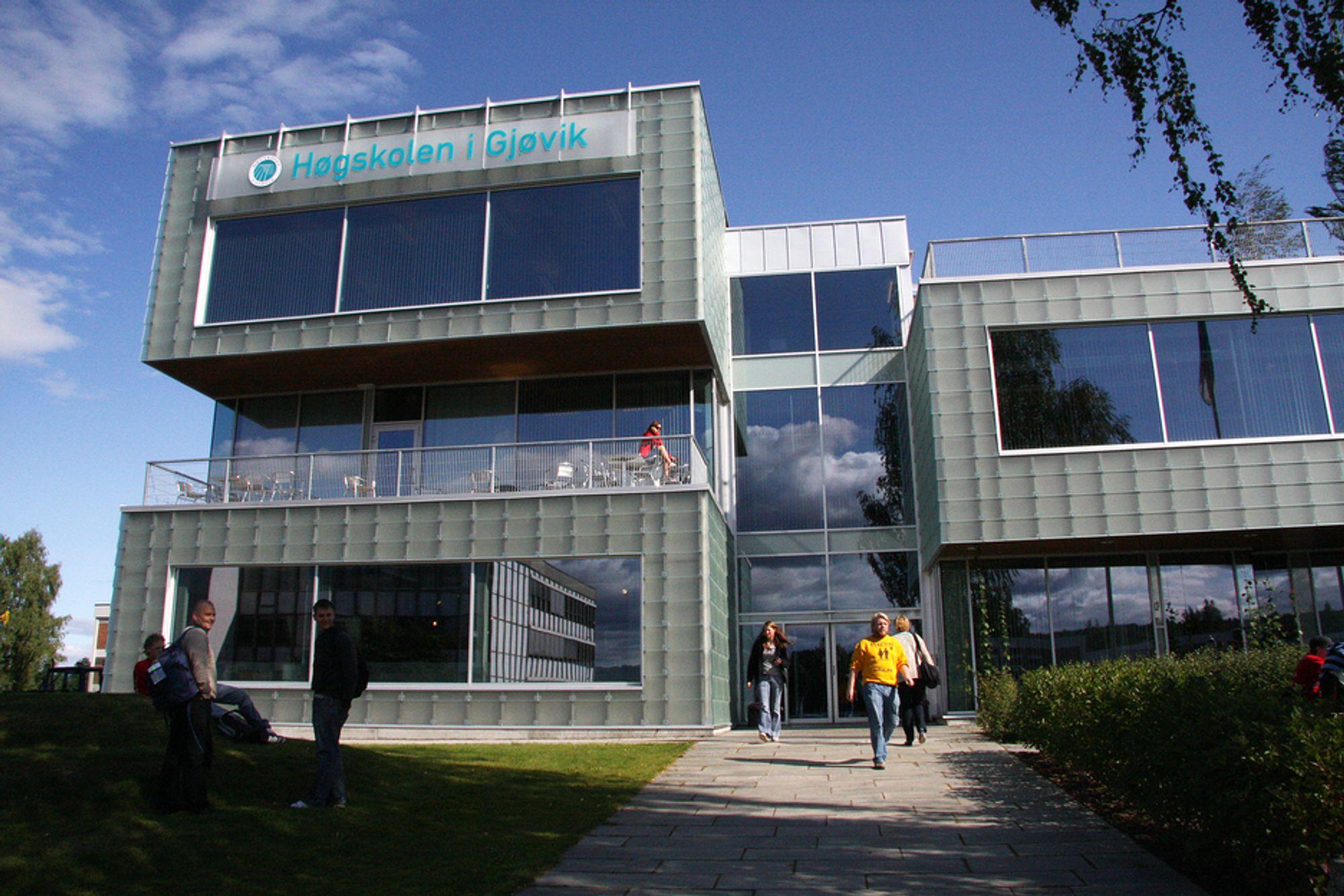TALL: Høgskolen i Gjøvik hadde nest høyest andel stryk i fjor.