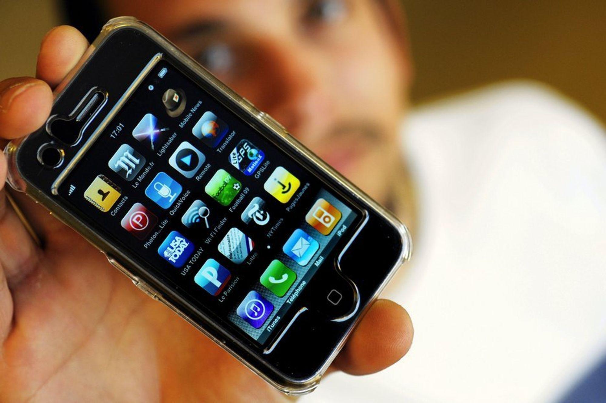 EKSPLOSJON: Datatrafikken har økt voldsomt de siste få årene. iPhone er nok muligens en stor del av grunnen.