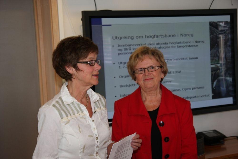 MER: Jernbanedirektør Elisabeth Enger får i hvert fall litt  penger til å ruste opp et nedlsitt jernbanenett.