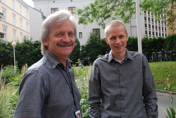 PÅ HØRING: Renergi-koordinator Hans Otto Haaland og Andreas Bratland i Forskningsrådet vil ha industriens meninger om utfordringene de to nye rapportene skisserer for vindkraft i Norge.
