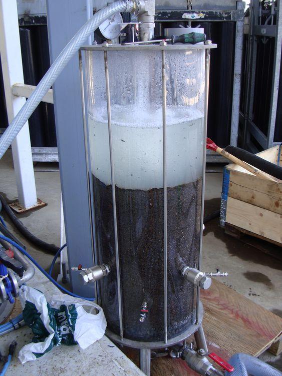 TEST: Sorbwaters poleringsrekator, Sorbpol, skal sørge for nullutslipp av olje i det siste rensetrinnet.