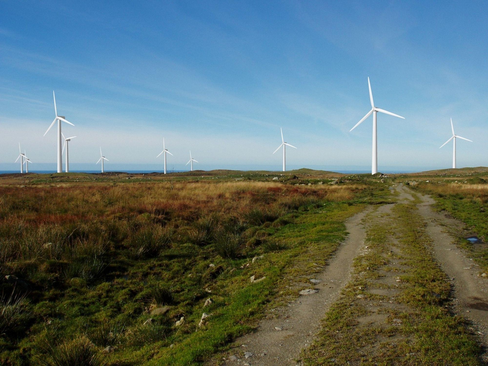 Siemens skal levere 32 vindturbiner til Høg-Jæren vindpark.