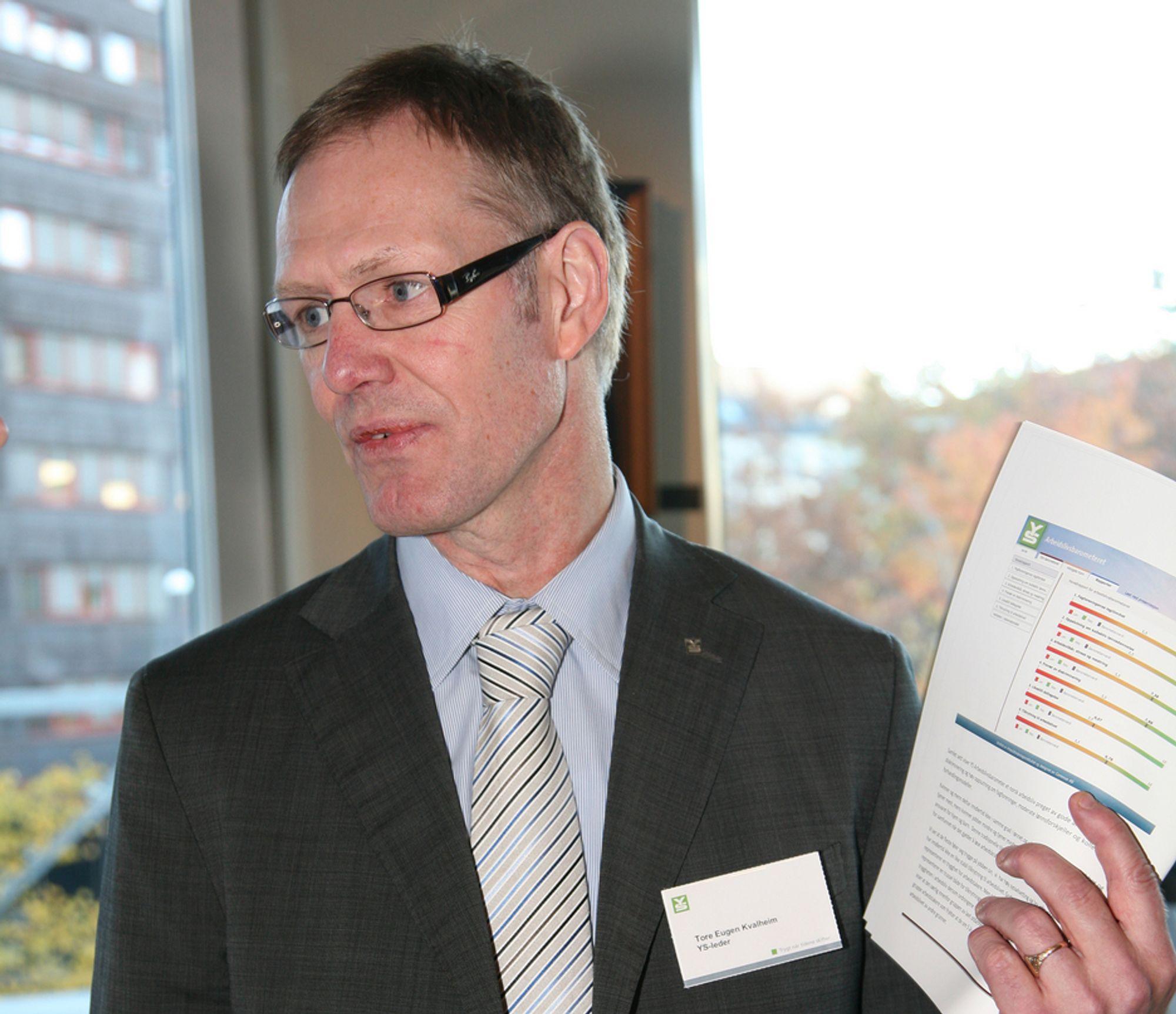 KRITISK: YS-leder Tore Eugen Kvalheim mener Statoil har overdreven tro på skjemaer i vurdering av ansatte.