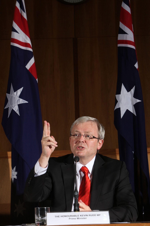 Regjeringen i Australia vil vente med å innføre kvotehandel til etter Kyotoprotokollens utløp i 2012, ifølge statsminister Kevin Rudd.