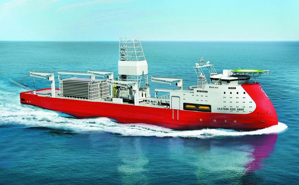 UNIK: Ulstein XDS 3600 boreskip utnytter den unike skrogdesignen med nye borearrangementer. Sikkerhet for mannskap, skip og miljø er tatt bedre vare på i ny design, mener Ulstein Sea of Solutions.