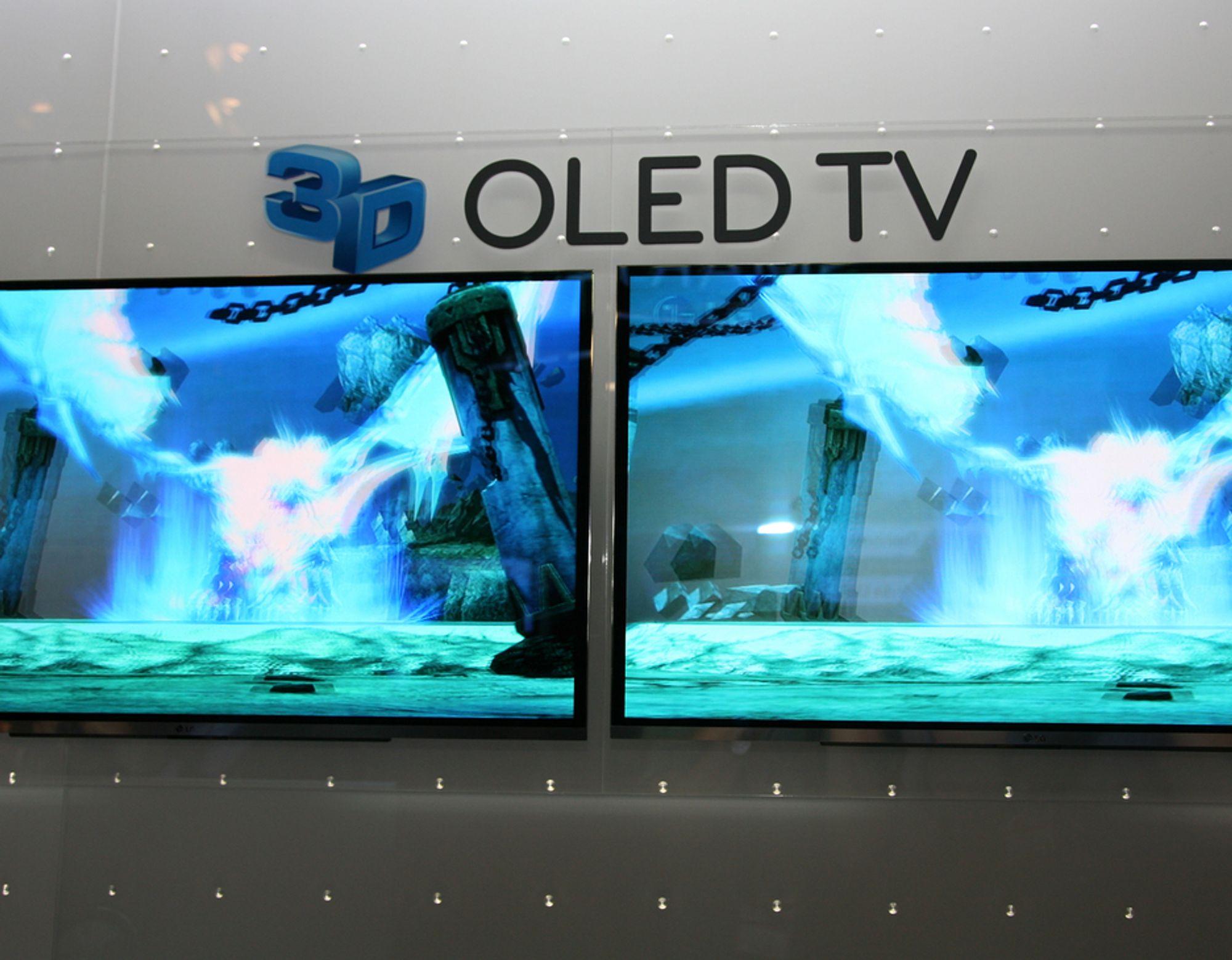 IFA. LGs nye OLED-TV tar mindre plass enn et bilde på veggen.