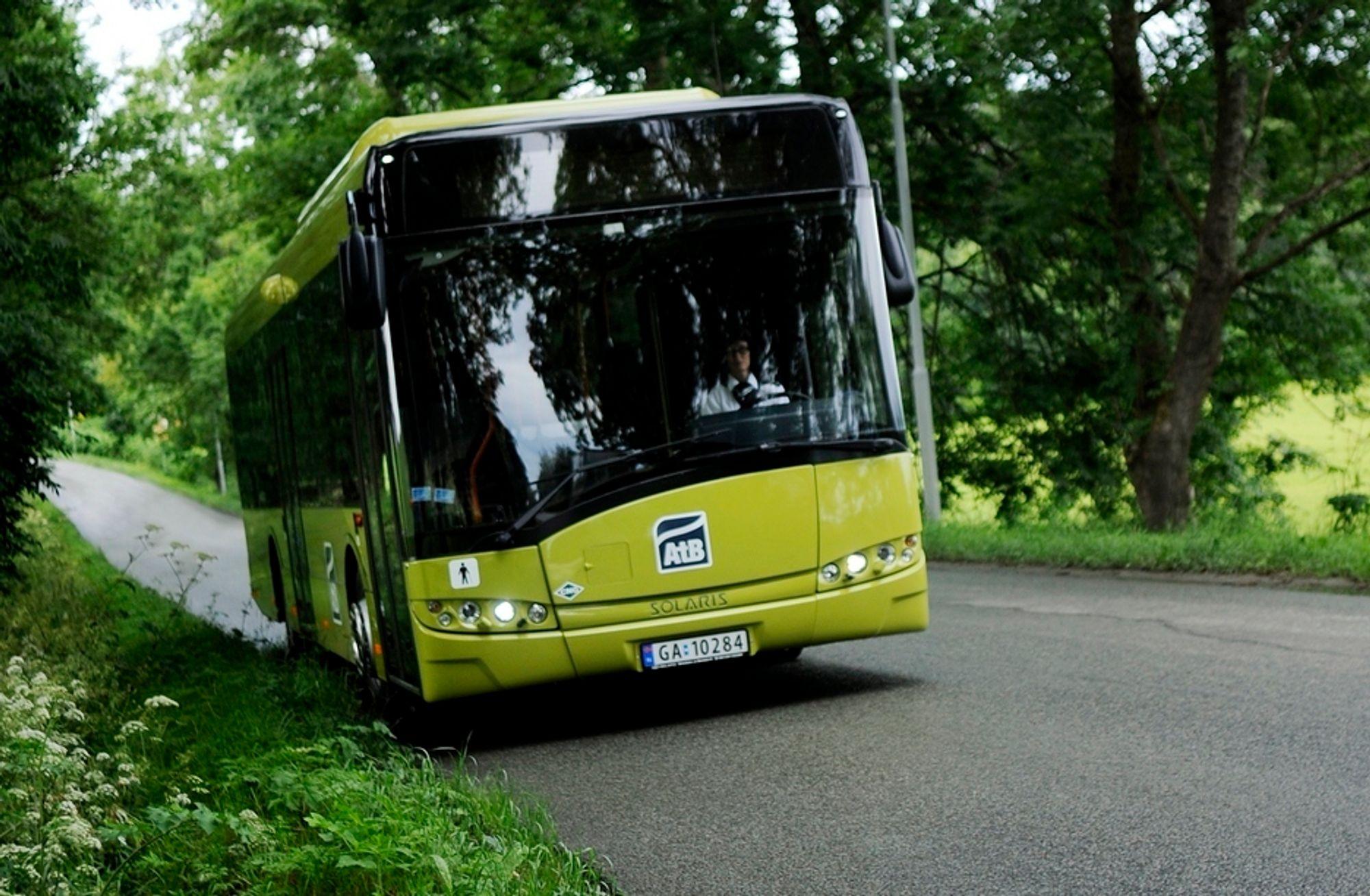 GRØNNERE: Kommunene ønsker at biogass skal erstatte diesel i kollktivtrafikken. Illustrasjonsbilde