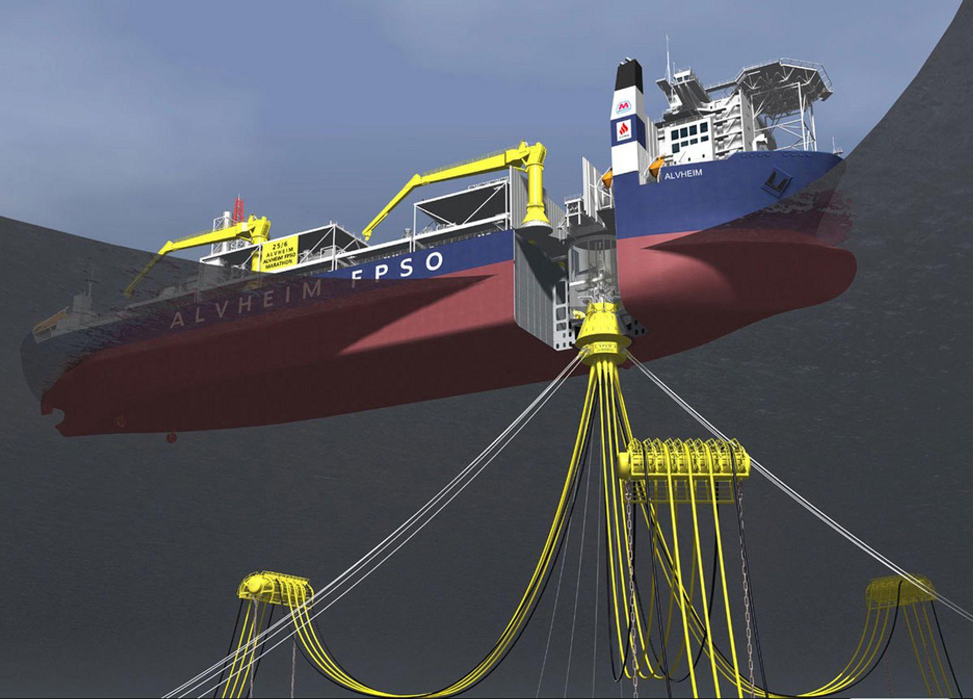 ROTERE: Arendalsbedriften APL leverer svivelsystemet som båten skal kobles til. Skipet kan rotere rundt denne.