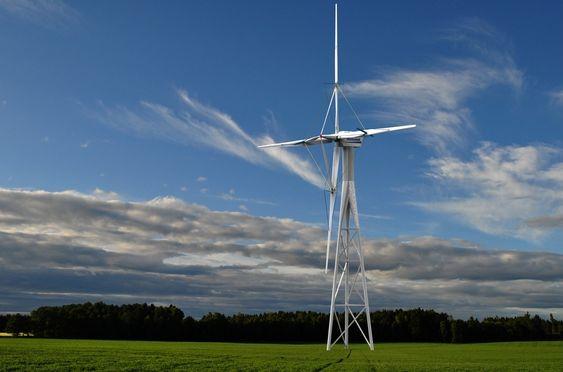 STAG: Lett vekt, stor størrelse, økonomisk effektivitet. Norsetek har benyttet den generelle teknikken med stag (fagverk) for å overføre kreftene fra vinden til ¿Hub¿ og rotoraksel i senter.