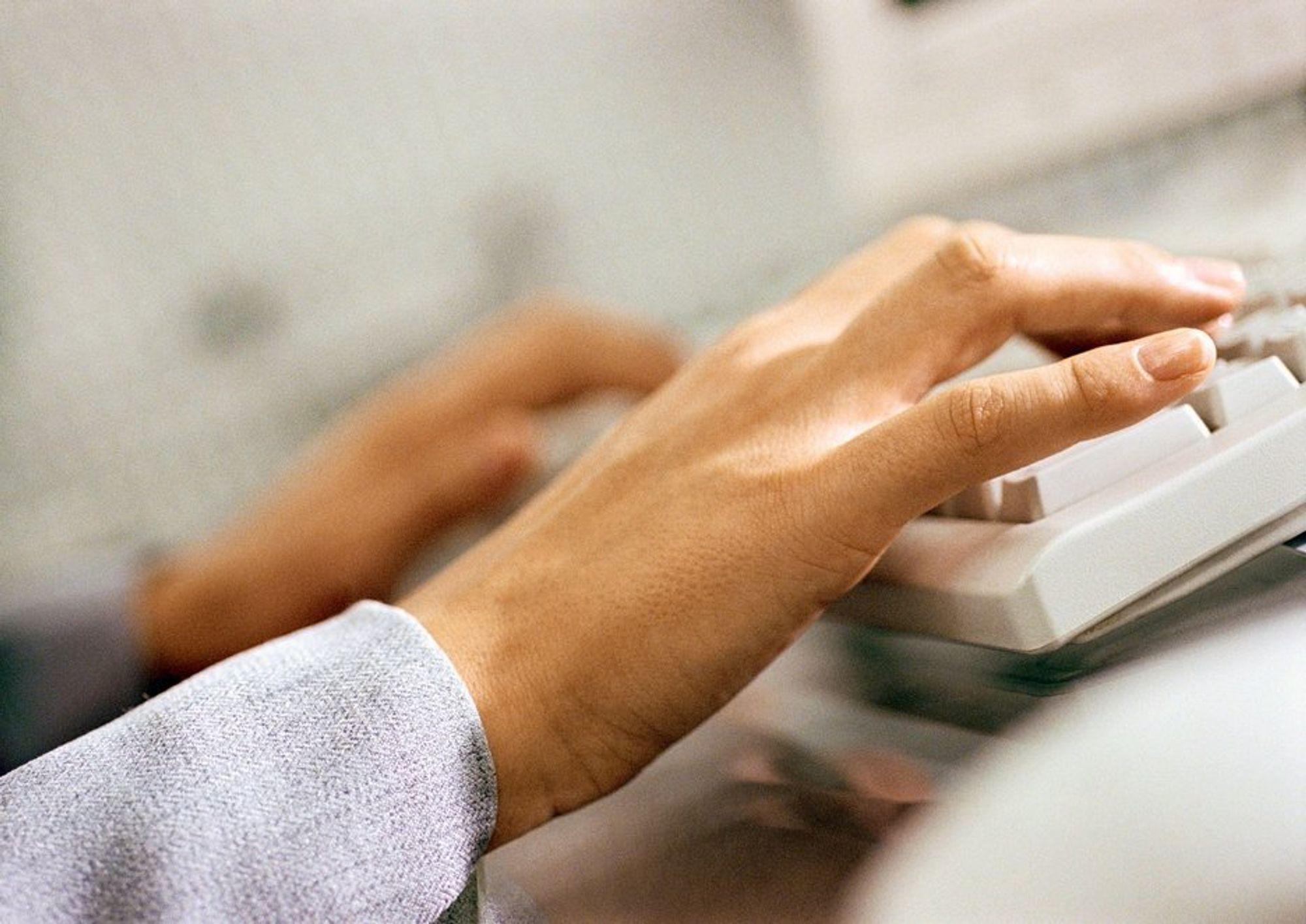 Tastatur. Skrivebord. PC. Data. IT. IKT. Taste. Skrive. Kunnskapsbedrifter. Kunnskapsintensiv.