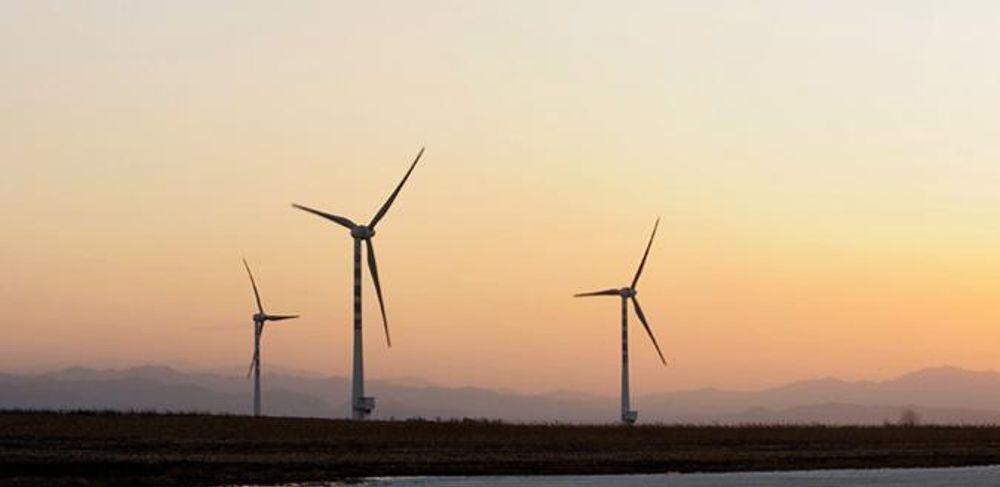 KINESISKE TURBINER: Dette er turbiner fra kinesiske Goldwind, landets største turbinprodusent. Kina installerte 13 000 megawatt vindkraft i fjor og kommer trolig til å passere Tyskland som verdens neste største vindkraftland i 2010. Før eller siden passerer de USA og blir nummer en i verden også på dette feltet.