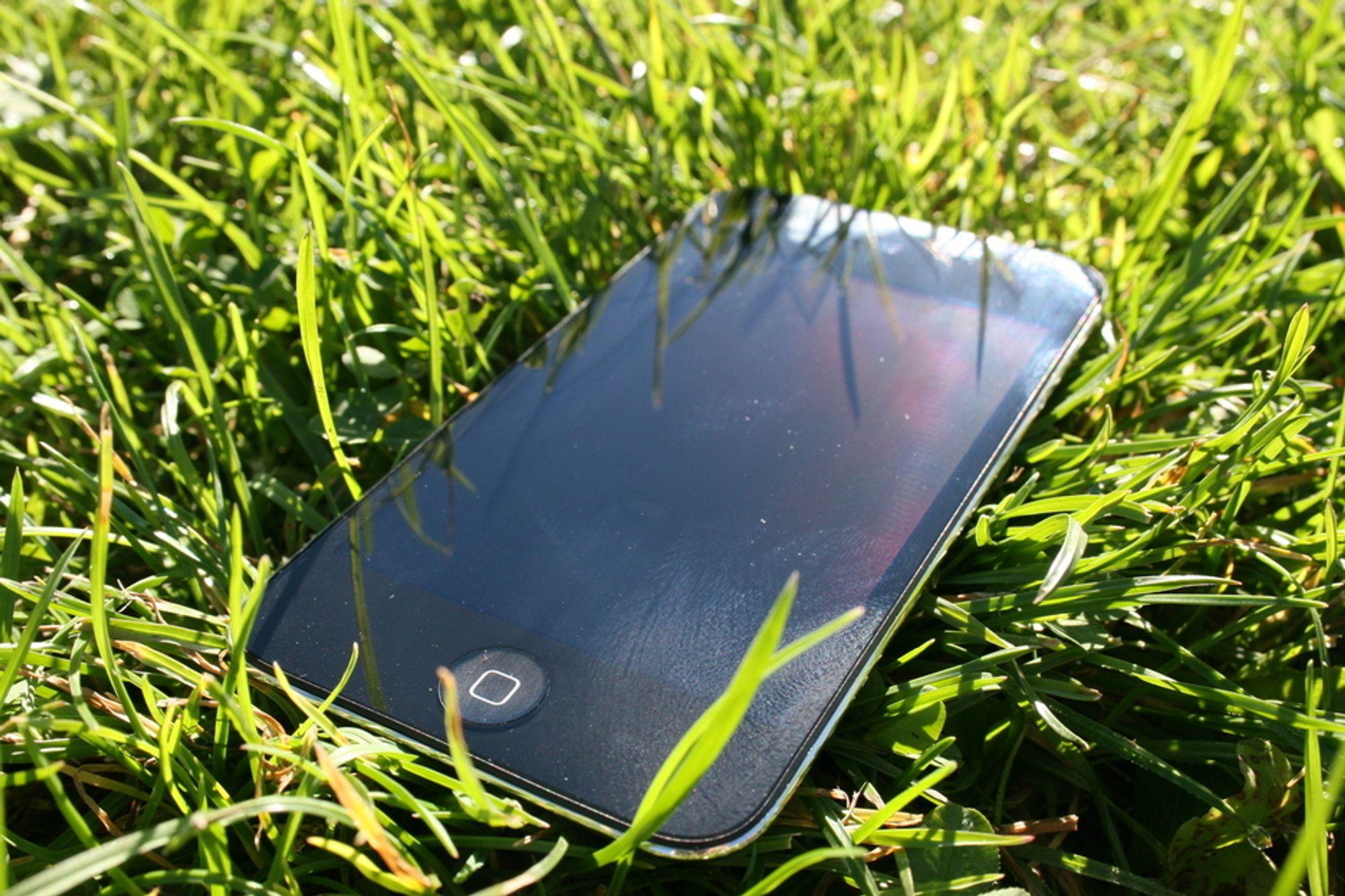 iPod touch. Grønn elektronikk.