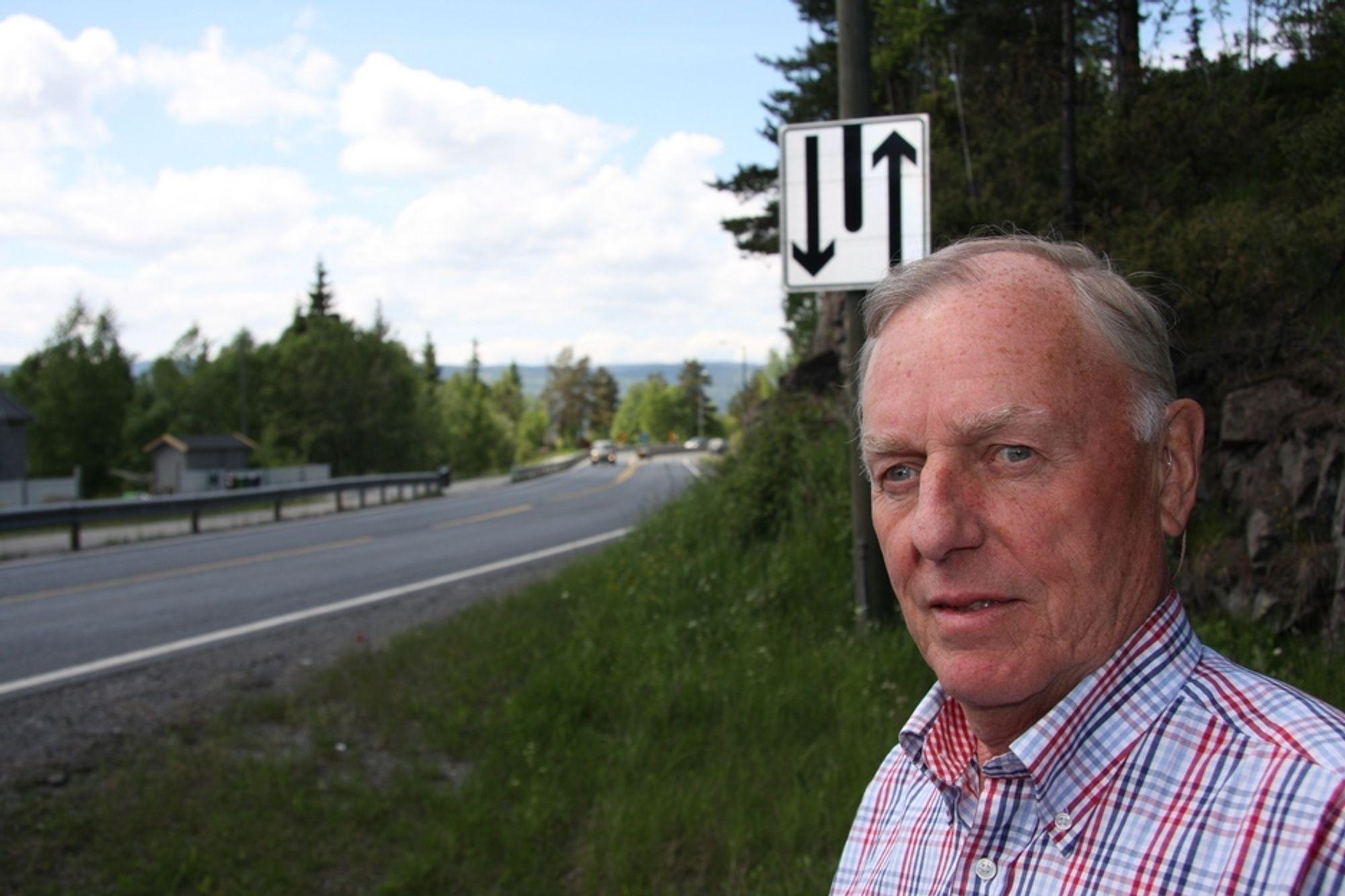 MÅ SIKRES: - Hele E39 mellom Kristiansand og Stavanger må bli møtefri, krever styreleder i Nei til Frontkollisjoner, Trygve Præsttun.
