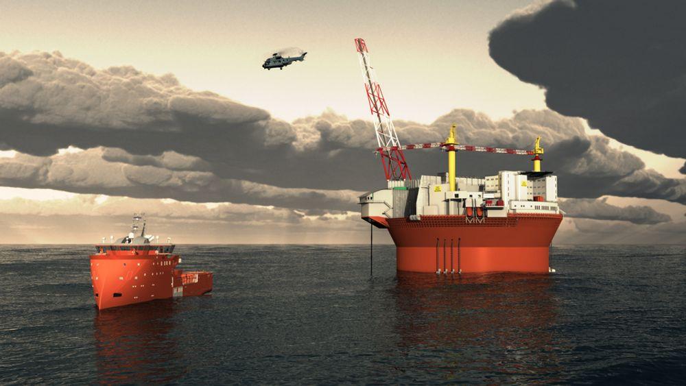 GOD BEREDSKAP: Siden Goliat ligger nære land, 53 kilometer, har Eni Norge lagt ekstra vekt på beredskapen rundt plattformen. Danske Esvagt  skal levere beredskapsfartøyet av Ulstein X bow Design