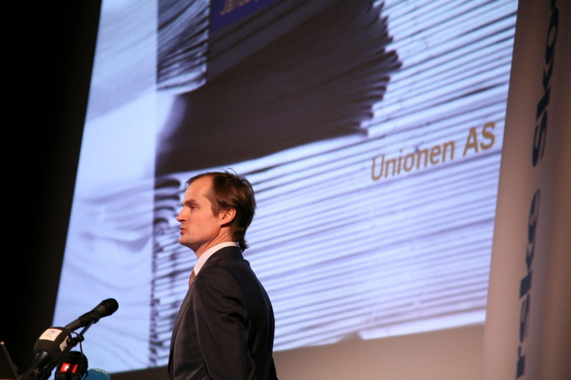 Kjendisinvestor Øystein Stray Spetalen fra Unionen AS stiler mot toppen i Norske Skog.