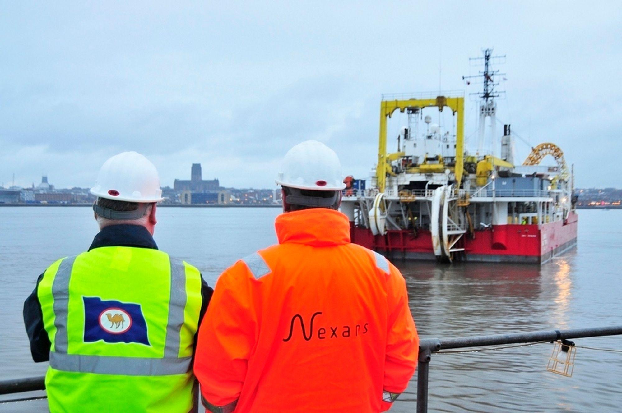 INSTALLERER: Nexans Skagerrak skal installere sjøkabelen når den blir ferdig produsert i Halden.