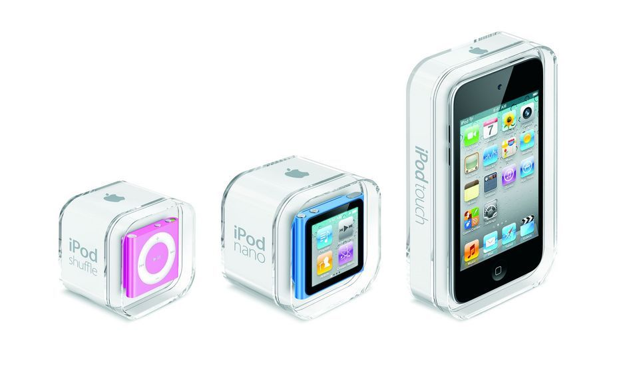 Nye iPod shuffle, nano og touch.