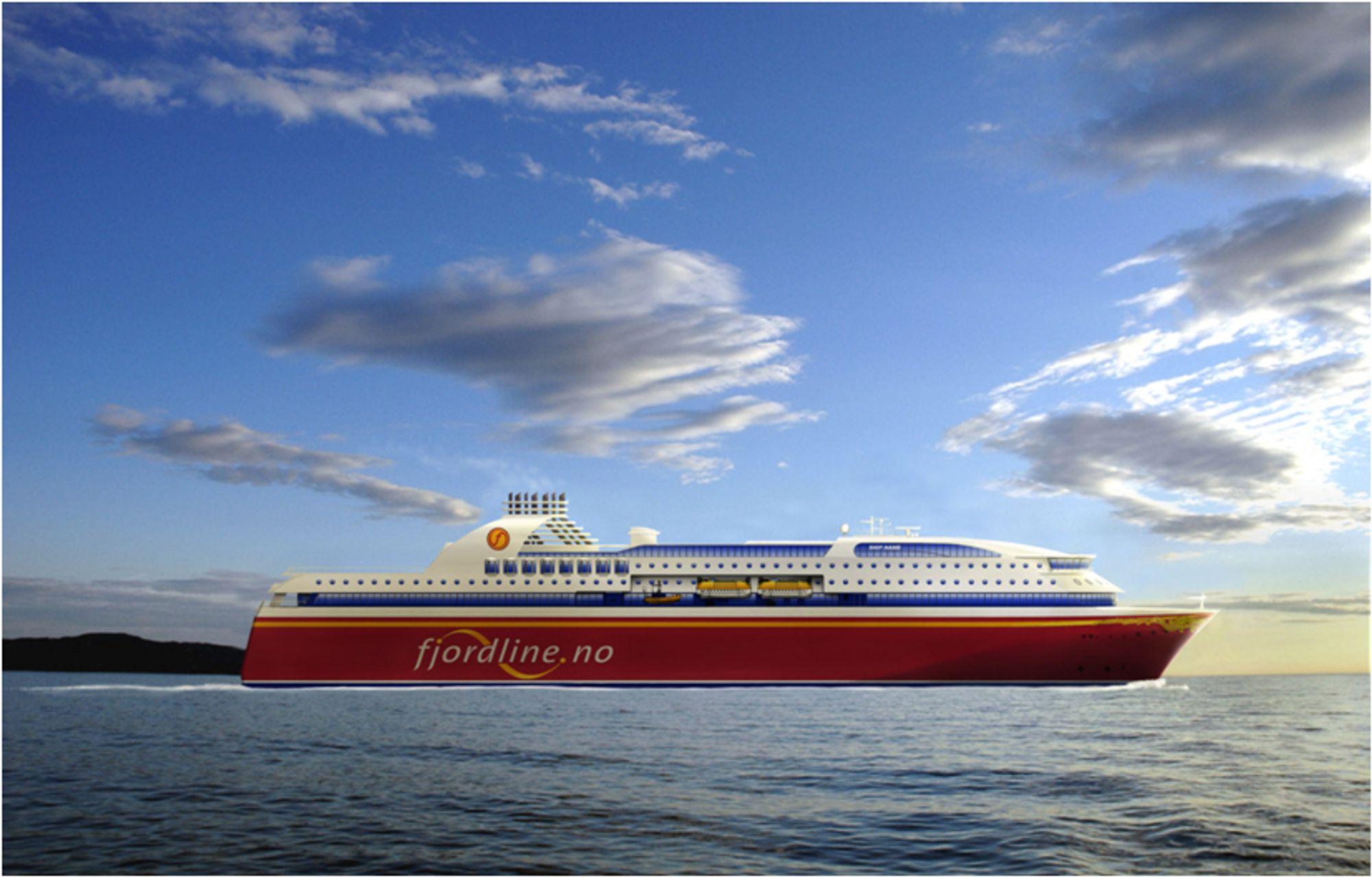 LUKSUS: De to nye Fjord Line fergene får 306 lugarer, hvorav flere suiter. Det første skipet leveres høsten 2012.