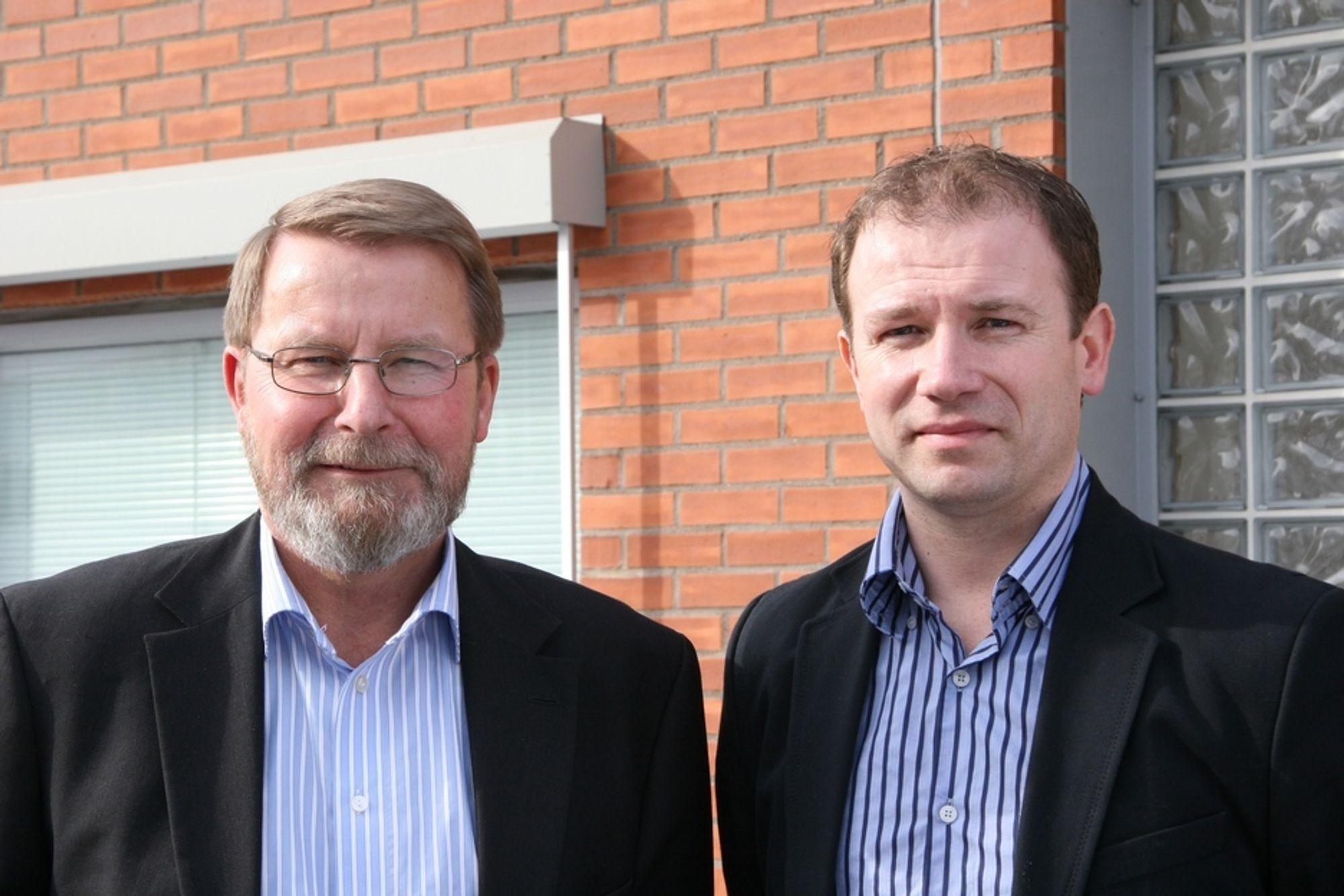 SKIFTE: Arne Frank Johansen, til venstre, trekker seg etter eget ønske og overlater styringen av Lemminkäinen i Norge til Frank Mathillas. Skiftet skjer 1. juni.