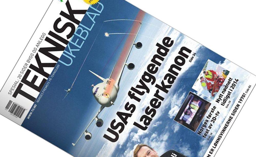 I MEDVIND: Teknisk Ukeblad stiger på lesertallsundersøkelsene. Her siste nummer.