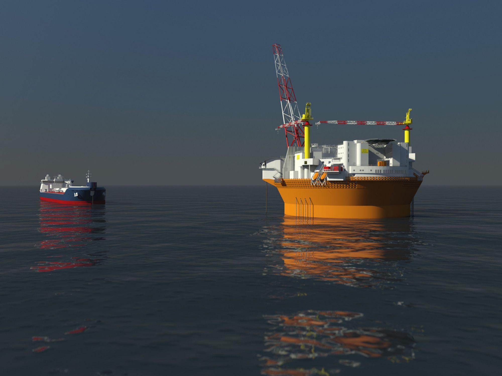 SIKKER LOSSING: Eni Norge har lagt vekt på å få til sikker lossing av olje til shuttletanker på Goliat. APL skal levere den spesialkonstruerte lossestasjonen.