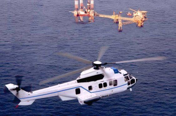 TÅLER HARDT VÆR: Slik ser den ut, helikoptertypen som skal brukes til StatoilHydros oljevirksomhet i Barentshavet.