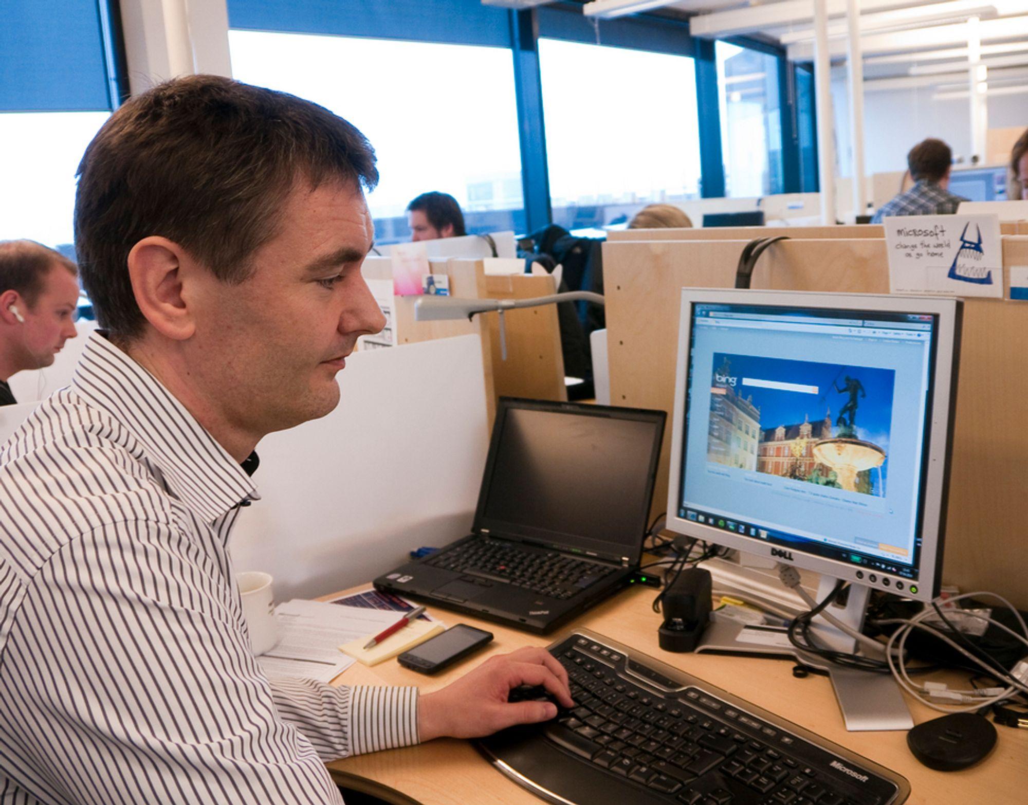 TAUS: Direktør Arne Uppheim i MSN Norge vil ikke si når Bing lanseres med full funksjonalitet i Norge, men tror søketjenesten vil ta markedsandeler når det skjer.