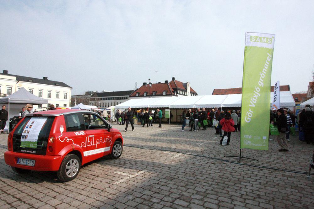 FEIRER: Miljøfestival på Stortorget i Europas grønneste by, Växjö.