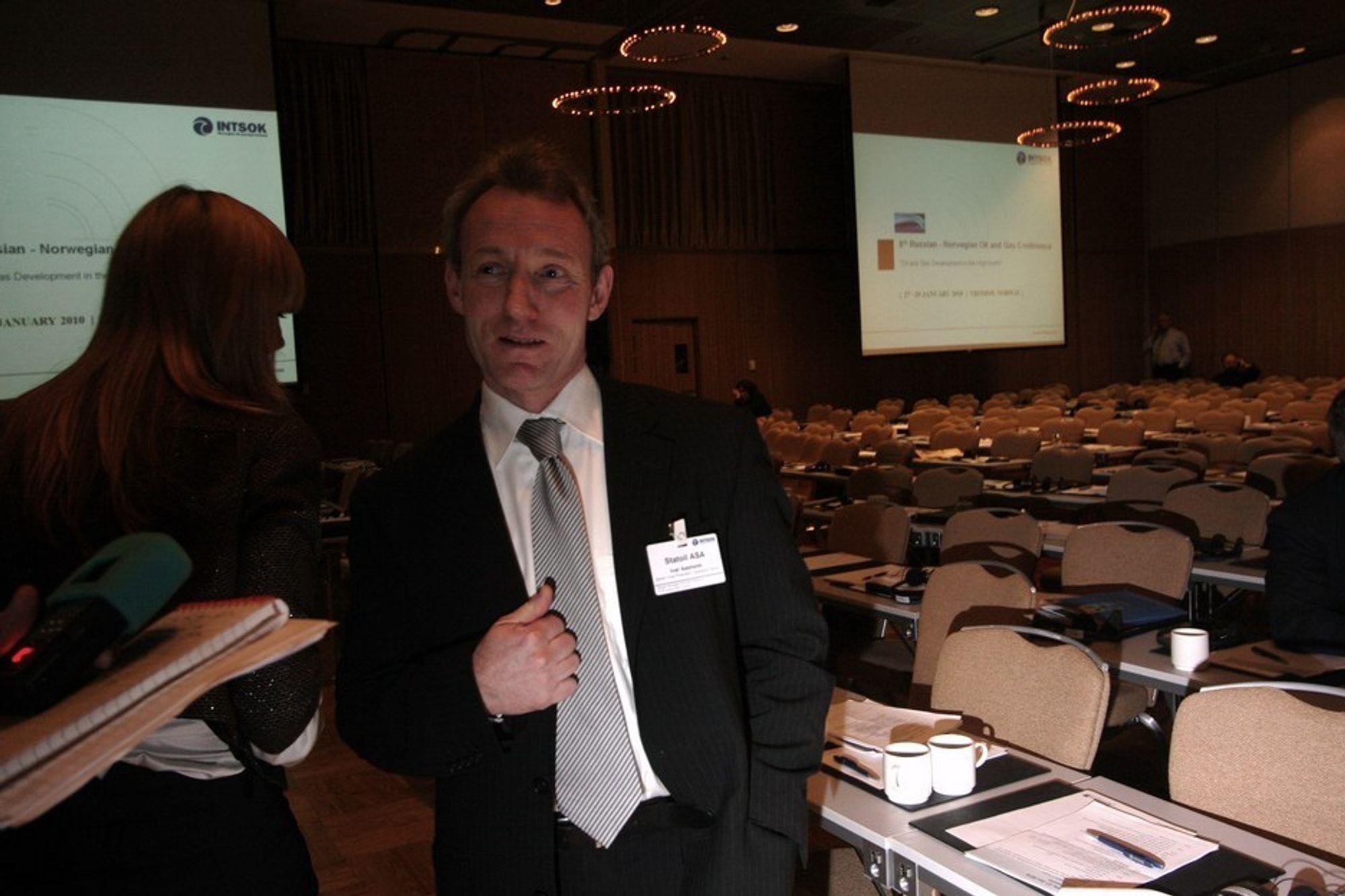 Statoil-direktør Ivar Aasheim vil ikke gi opp Barentshavet.