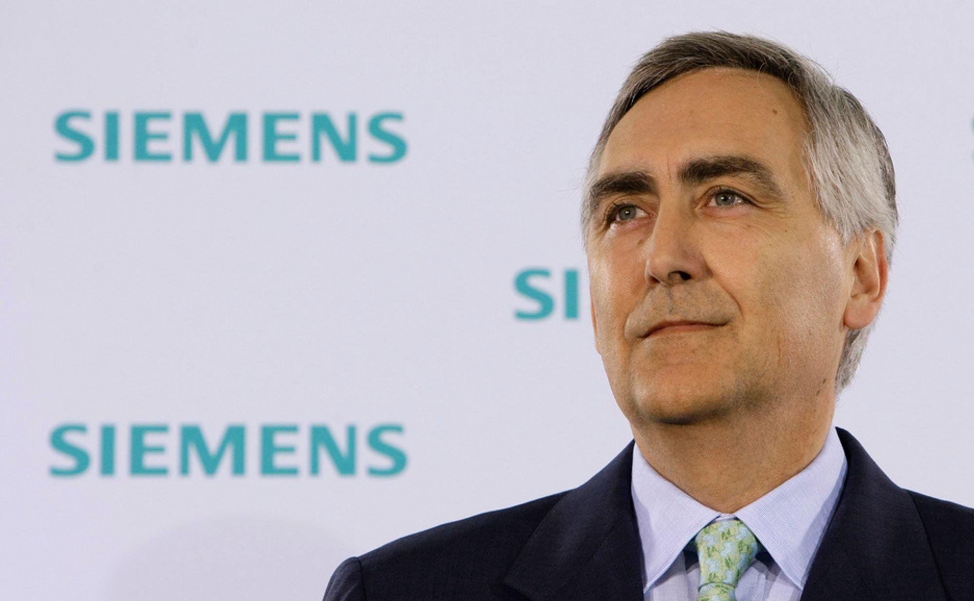 Siemens trapper ned samhandelen med Iran, opplyser konsernsjef Peter Loescher.