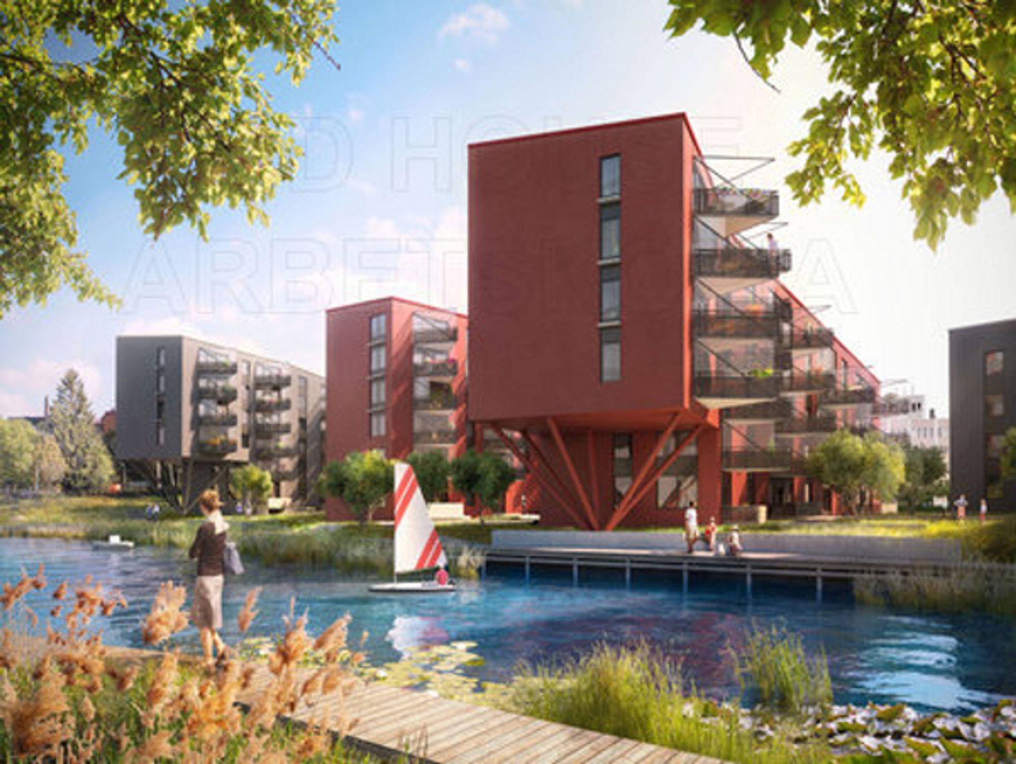 KLIMASMART: Veidekke Entreprenad skal bygge klimasmarte leiligheter i Bromma ved Stockholm.