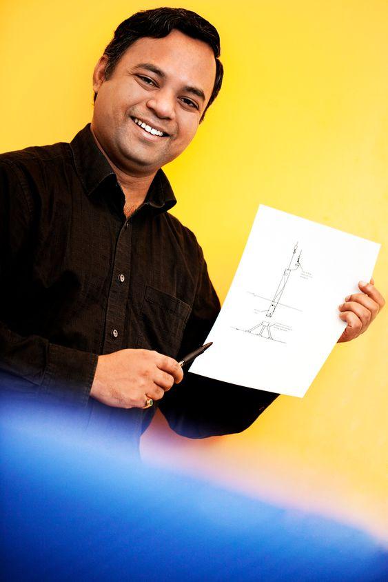 VÆRFØR: Doktorgradsstipendiat Arunjyoti Sarkar vil utvikle en metode for havvindmølleinstallasjon som kan brukes ved dårligere vær enn i dag