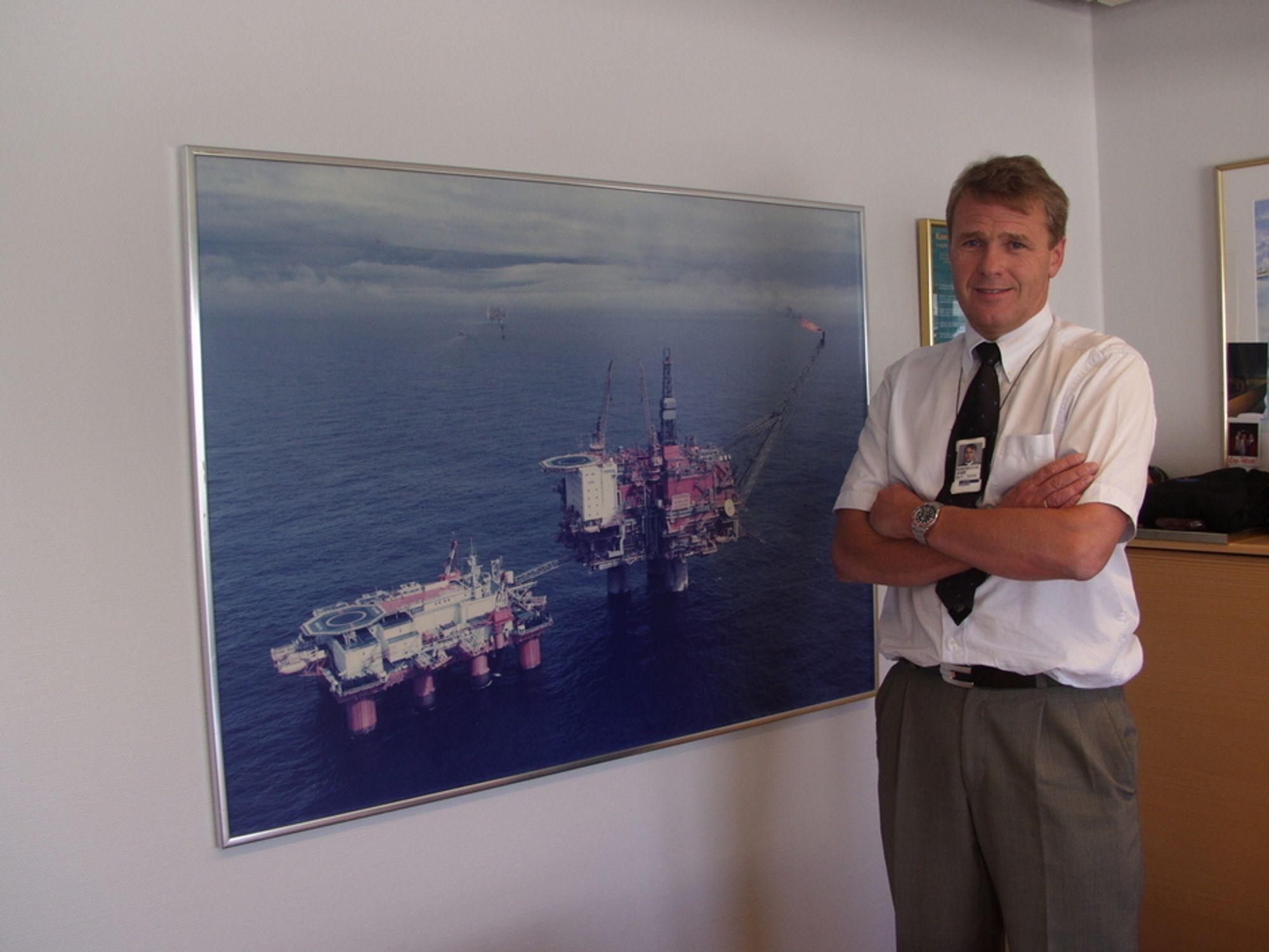 BYGGER UT: Sjefen for Statoils Houston-kontor, Øyvind reinertsen er fornøyd med at selskapet nå går i gang med utbyggingen av Big Foot-feltet i dypvannsdelen av Den Mexicanske Golfen.