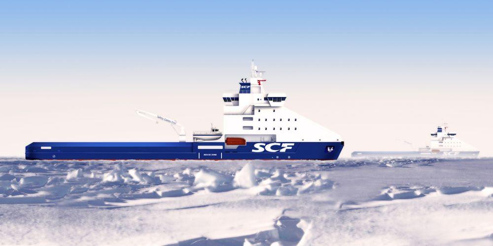 POLIS: De to offshorefartøyene med isbryteregenskaper skal settes inn som PSV for Exxon Neftegas' plattform på Sakhalin-1 Arkutun-Dagi gass-felt.