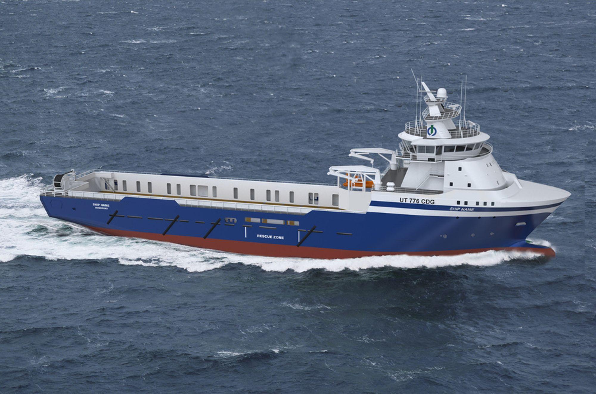 MILJØ: De to nye plattform forsyningsskipene til Island Offshore skal gå på LNG.