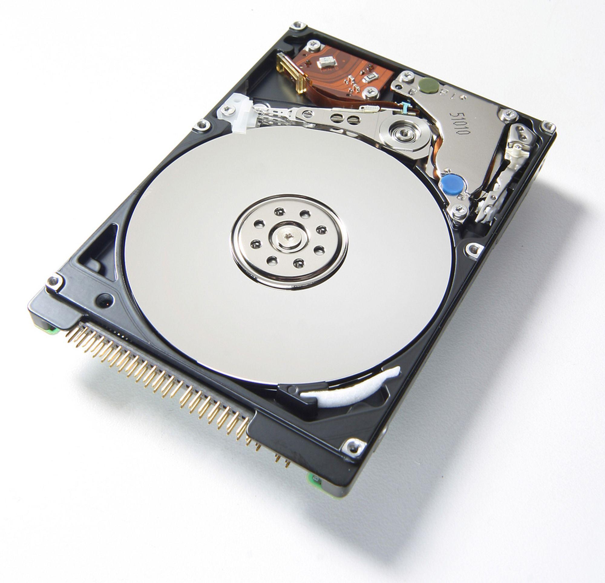 NY REKORD: 5 TB i en harddisk som passer i en bærbar pc vil være ny rekord.