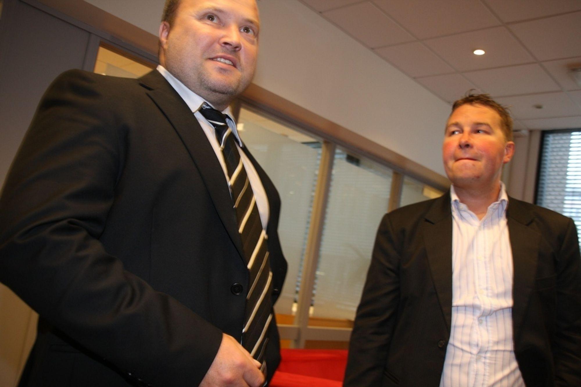 SAMMEN: Norgessjef Sverre Nymo hos  IBM Rational (t.v.) og testdirektør Håkan Fjeldstad hos Tieto Norge legger ikke skjul på at den nye testløsningen byr på utfordringer.